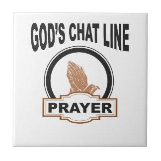 gods chat prayer ceramic tile