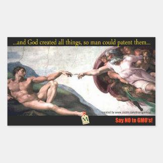 God's Creation Bump Stiker Rectangular Sticker