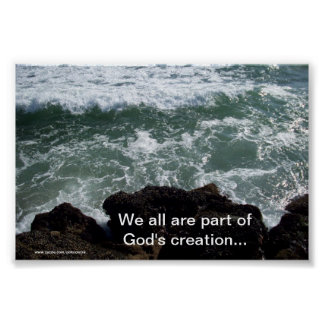 God's Creation Water Poster