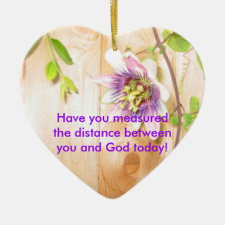 God's Distance Heart Ceramic Heart Decoration