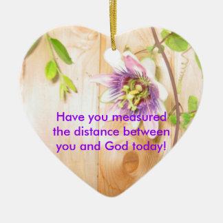 God's Distance Heart Christmas Ornaments