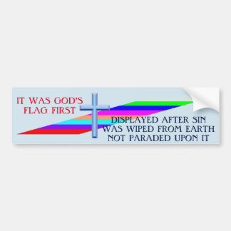GOD'S FLAG BUMPER STICKER