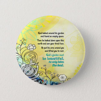 God's Garden 6 Cm Round Badge