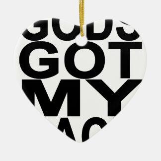 Gods Got My Back.png Ceramic Heart Decoration