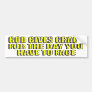God's grace  bumper sticker car bumper sticker