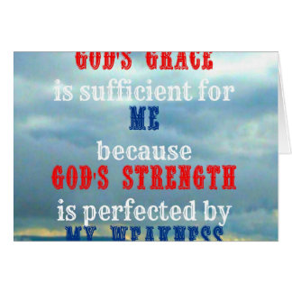 God's grace is sufficient for me card