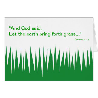 God's Grass - Father's Day Card