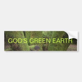 GOD'S GREEN EARTH CAR BUMPER STICKER