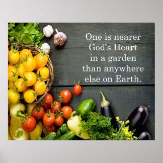 God's Heart Garden Quote Poster