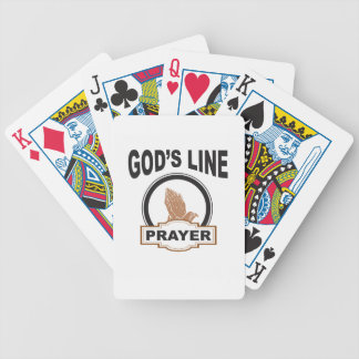 gods line prayer bicycle playing cards