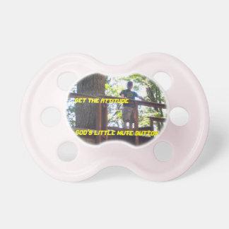 Gods Little Mute Button Girls Pacifier