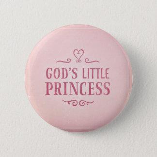 God's Little Princess 6 Cm Round Badge