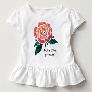 God's Little Princess Modern Toddler Ruffle Tee