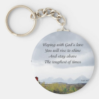God's love basic round button key ring