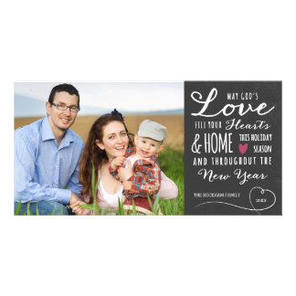 God's Love Chalkboard Holiday Photo Card