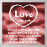 God's Love Gift  Poster-Customise
