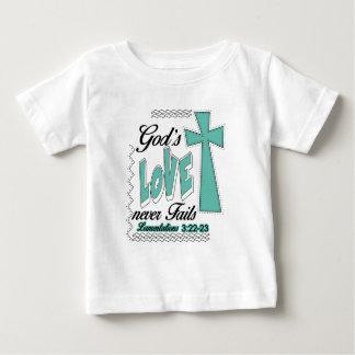 Gods Love Never Fails Lamentations Gift Baby T-Shirt