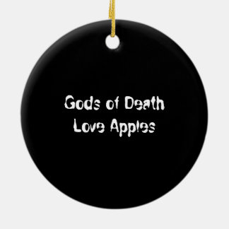 Gods of Death Love Apples Christmas Decoration Round Ceramic Decoration