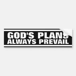 God's Plans Bumper Sticker