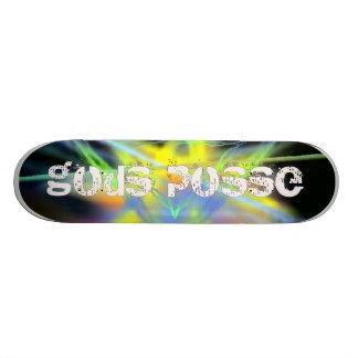 Gods Posse Logo on Fractal Skate Decks