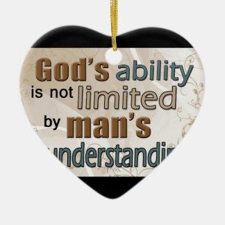God's Power Christmas Ornaments