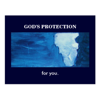 GOD'S PROTECTION POSTCARD