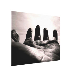 Gods reached out hand by healinglove black & white gallery wrap canvas
