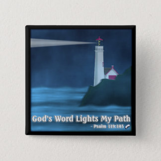 God's Word Lights My Path - Psalm 119:105 - Button