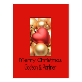 godson and partner  Merry Christmas card Post Cards