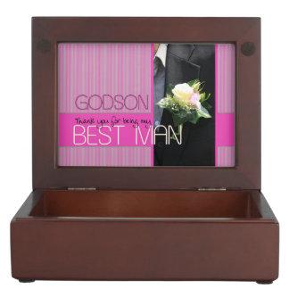 Godson    best man thank you keepsake box