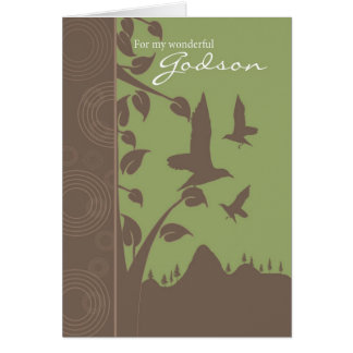 godson birthday card - birthday greeting card for