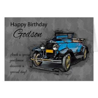 Godson Card, Standard white envelopes included Card