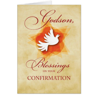 Godson, Confirmation Congratulations Blessings Card