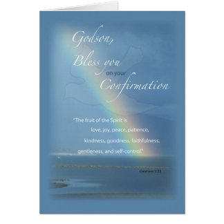 Godson, Confirmation Rainbow Congratulations Card