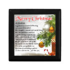 Godson poem - Christmas Design Gift Box