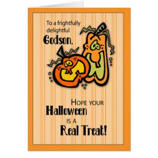Godson Pumpkins Halloween Card