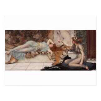 Godward - Mischief and Repose Postcard