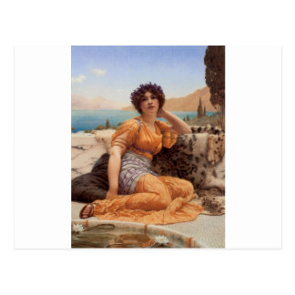 Godward - With Violets Wreathed and Robe of Saffro Postcard