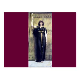 Godward Woman Warrior Guard Postcard