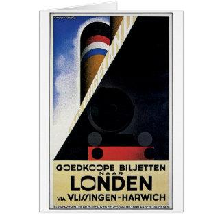 Goedkoope Biljetten - Vintage Travel Ad Greeting Card