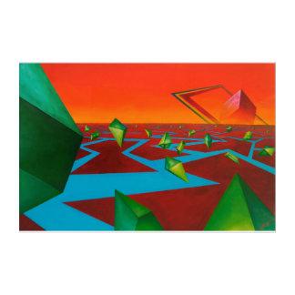 Goemetric dimension acrylic print