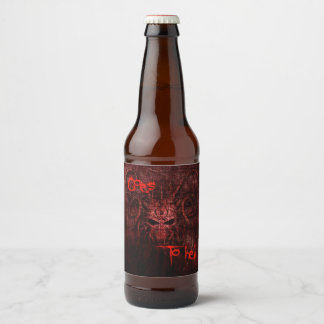 Goes to hell beer bottle label