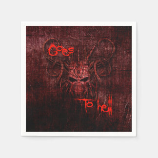 goes to hell paper serviettes