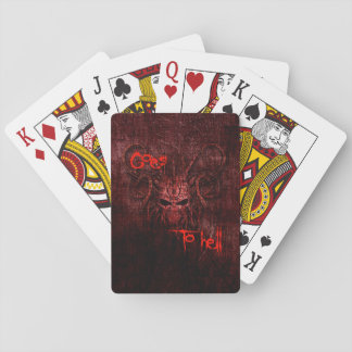 Goes to hell playing cards
