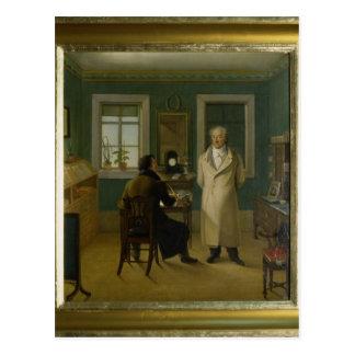 Goethe Dictating to his Clerk John, 1834 Postcard