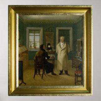 Goethe Dictating to his Clerk John, 1834 Poster