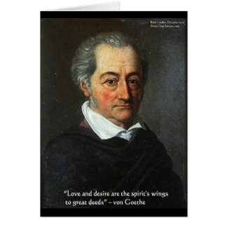 Goethe Love/Desire Graphic & Quote Gifts Tees Etc Card