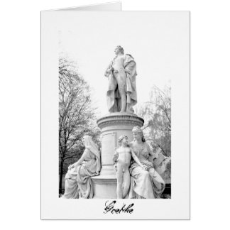 Goethe monument in Berlin, Germany Card