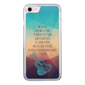 Goethe Speaks About Hearing Carved iPhone 7 Case