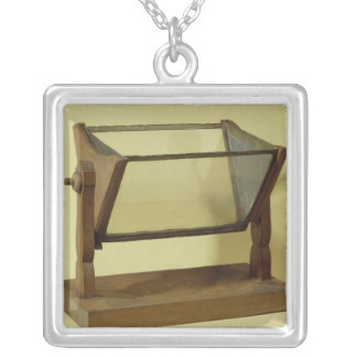 Goethe's Water Prism Square Pendant Necklace